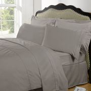 Highams 100% Egyptian Cotton Plain Dyed Bedding Set - Portabello [China Sizing Only]