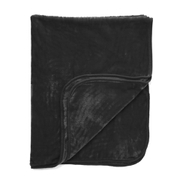 Luxurious Mink Faux Fur Throw - Black