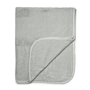 Luxurious Mink Faux Fur Throw - Silver