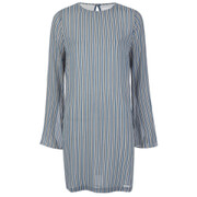 Ganni Women's Allen Georgette Long Sleeve Dress - Verona Stripes
