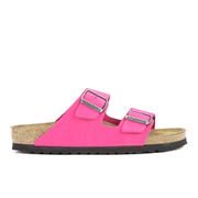 Birkenstock Women's Arizona Slim Fit Suede Double Strap Sandals - Pink