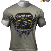 GASP Men's Rough Print T-Shirt - Wash Green