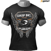 GASP Men's Rough Print T-Shirt - Wash Black
