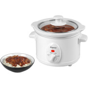 Elgento E16001 Slow Cooker - White - 1.5L