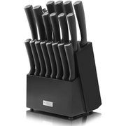 Tower T80702 19 Piece Knife Block - Black