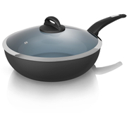 Tower T80305 Ceramic Coated Saute Pan - Graphite - 28cm