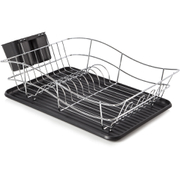 Tower T81400 Dish Rack with Tray - Black