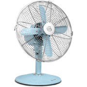 Swan SFA1010BLN Retro Desk Fan - Blue - 12 Inch
