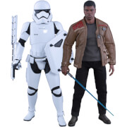 Hot Toys Star Wars 1:6 Finn and First Order Riot Control Stormtrooper Set