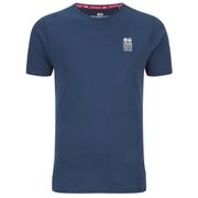 Crosshatch Men's Atlantic Back Print T-Shirt - Insigia Blue