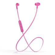 Mixx  Play 1 Bluetooth Sports Earphones Including Mic & In-Line Remote - Pink