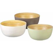 Parlane Tonal Bamboo Bowls - Brown (Set of 3) (80 x 180mm)