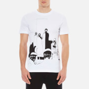 McQ Alexander McQueen Men's Short Sleeve Hand Drawn Crew T-Shirt - Optic White