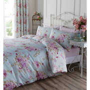 Catherine Lansfield Birdcage Blossom Bedding Set - Duck Egg