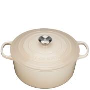 Le Creuset Signature Cast Iron Round Casserole Dish - 28cm - Almond
