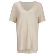 Gestuz Women's Poppy Short Sleeve Top - Smoke Gray