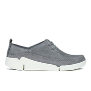 Clarks Women's Tri Angel Leather Sporty Shoes - Grey/Blue