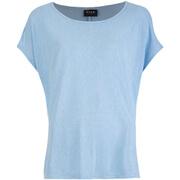 VILA Women's Visumi Short Sleeve Top - Cashmere Blue