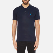 Selected Homme Men's Daro Short Sleeve Cotton Pique Polo Shirt - Peacoat