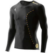Skins DNAmic Men's Long Sleeve Top - Black