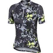 Sportful Game Children's Short Sleeve Jersey - Grey/Yellow