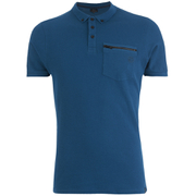 Polo Smith & Jones pour Homme Mascaron Zip -Bleu
