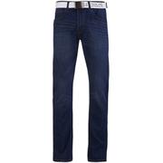 Smith & Jones Men's Rastrelli Belted Straight Fit Jeans - Dark Wash