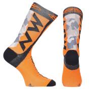 Northwave Extreme Tech Plus Socks - Camo/Orange Fluo