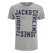 Jack & Jones Men's Core Wall T-Shirt - Light Grey Marl