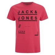 Jack & Jones Men's Core Fate T-Shirt - Cayenne