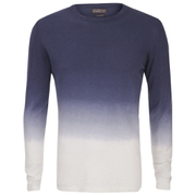 Jack & Jones Men's Originals Dyed Knitted Crew Neck Jumper - Navy Blazer