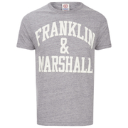 Franklin & Marshall Men's Large Logo T-Shirt - Sport Grey Melange