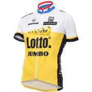 Santini Lotto Jumbo 16 Short Sleeve Jersey - Black