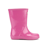 Hunter Toddlers' First Gloss Wellies - Fuchsia