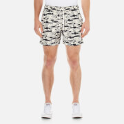 J.Lindeberg Men's Banks Pattern Swim Shorts - Off White