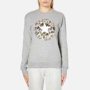 Converse Women's All Star Camo CP Graphic Crew Sweatshirt - Vintage Grey Heather