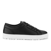 ETQ. Men's Low Top 1 Rubberized Leather Trainers - Black