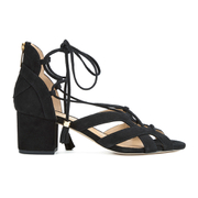 MICHAEL MICHAEL KORS Women's Mirabel Leather Mid Heel Sandals - Black