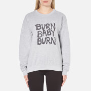 OBEY Clothing Women's War Pigs Burn Baby Burn Sweatshirt - Heather Grey