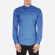 Vivienne Westwood MAN Men's Poplin Stretch Shirt - Blue
