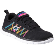 Skechers Women's Flex Appeal Something Fun Low Top Trainers - Black