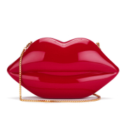 Lulu Guinness Women's Large Perspex Lips Clutch Bag - Red