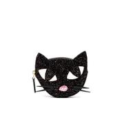 Lulu Guinness Women's Kooky Cat Glitter Coin Purse - Black