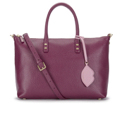 Lulu Guinness Women's Frances Medium Tote Bag with Lip Charm - Cassis