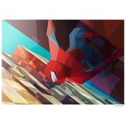 Affiche Géométrique Marvel Spider Man -Fine Art