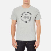 GANT Men's NHCT T-Shirt - Grey Melange