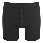 Levi's Men's Long Button Boxers - Black