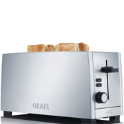 Graef TO100.UK 4 Slice Long Slot Toaster - Silver Gloss - Stainless Steel