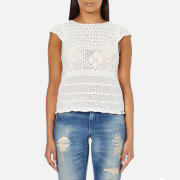 Superdry Women's Alexis Crochet Knitted Top - Off White
