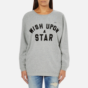 Maison Scotch Women's Wish Upon A Star Boxy Fit Sweatshirt - Grey